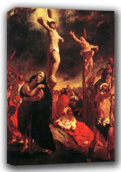 Delacroix, Ferdinand Victor Eugene: Christ at the Cross. Religious Fine Art Canvas. Sizes: A3/A2/A1 (001091)